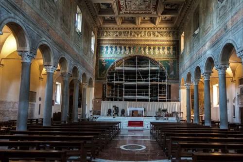 Basilica of Santa Maria in Domnica (during restoration of the apse, 2017)
