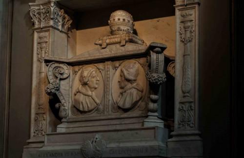 Santa Maria in Monserrato, nagrobek papieży Kaliksta III i Aleksandra VI