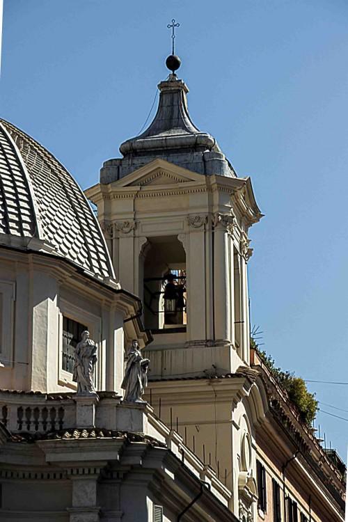 Church of Santa Maria in Montesanto, the church bell tower
