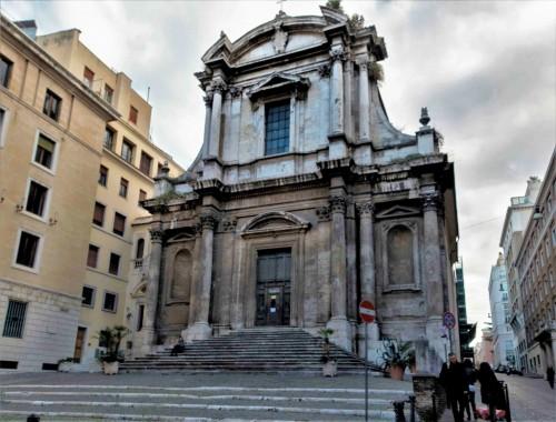 Façade of the Church of San Nicola da Tolentino, design by Giovanni Battista Baratta