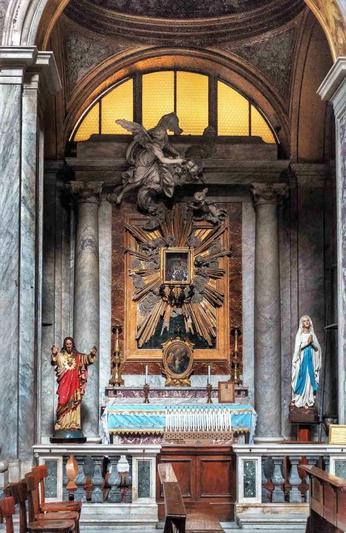 Church of San Nicola da Tolentino, Chapel of Our Lady of Good Counsel, decoration from the XVIII century