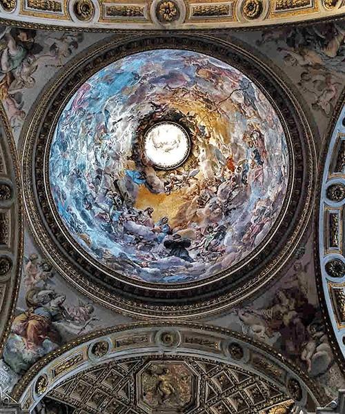 Church of San Nicola da Tolentino, pendentives and dome