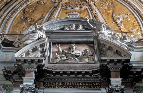Church of San Nicola da Tolentino, top of the main altar  - Giovanni Battista Baratta