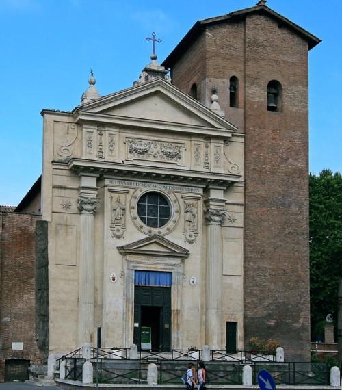 San Nicola in Carcere, fasada kościoła powstała w 1599 r., Giacomo della Porta