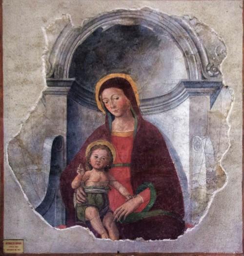 San Nicola in Carcere, Madonna z Dzieciątkiem, fresk, Antoniazzo Romano