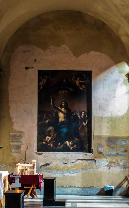 San Nicola in Carcere, Trójca Święta, kopia obrazu Guercina