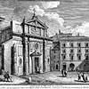 San Nicola in Carcere, widok kościoła w XVIII w., weduta - Giuseppe Vasi, zdj. Wikipedia