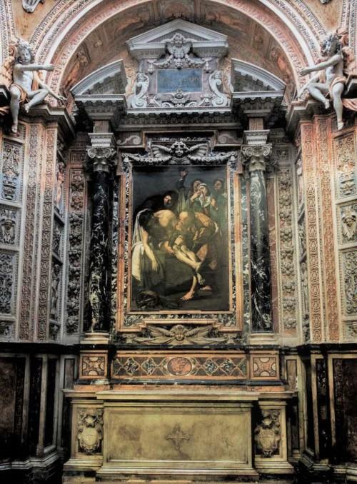 San Pietro in Montorio, kaplica Piety, Złożenie do grobu, Dirck van Baburen