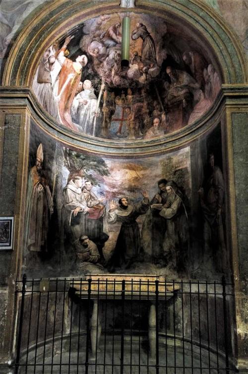 San Pietro in Montorio, kaplica św. Franciszka, freski - Giovanni de Vecchia