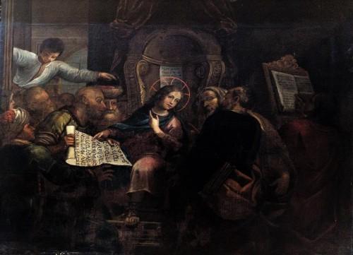 San Pietro in Montorio, Maria debatująca w świątyni, kaplica Piety, prawdopodobnie Dirck van Baburen