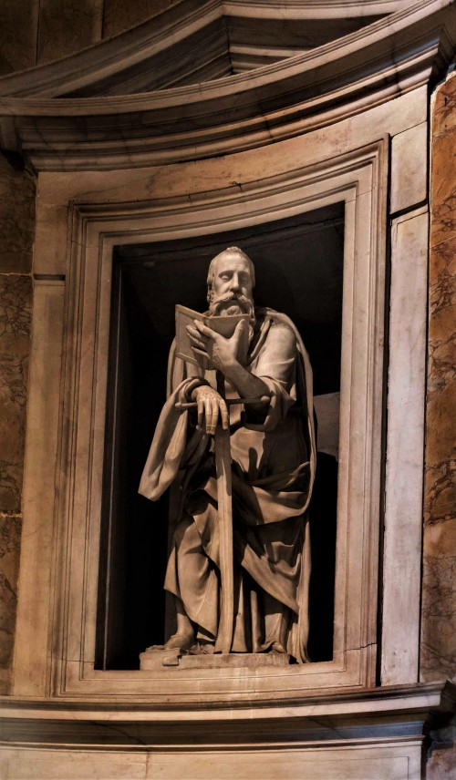 Church of San Pietro in Montorio, statue of St. Paul from the Ricci Chapel