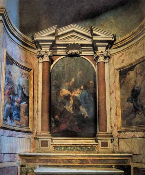 San Pietro in Montorio, trzecia kaplica po prawej - sceny z życia Marii, Michelangelo Carruti