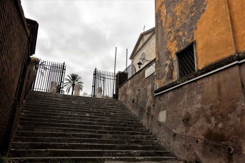 Steps leading into the Church of San Pietro in Montorio