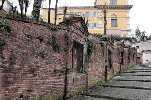 Stacje drogi krzyżowej na drodze prowadzącej od kościoła San Pietro in Montorio do strony via Garibaldi