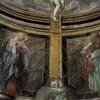 San Pietro in Montorio, kaplica Ukrzyżowania, dolna część fresku z Marią i św. Janem pod krzyżem