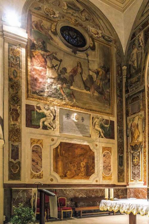 Santa Prisca, malowidła transeptu - sceny z życia św. Pryski
