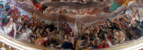 Basilica of Santi Quattro Coronati, apse frescoes, fragment