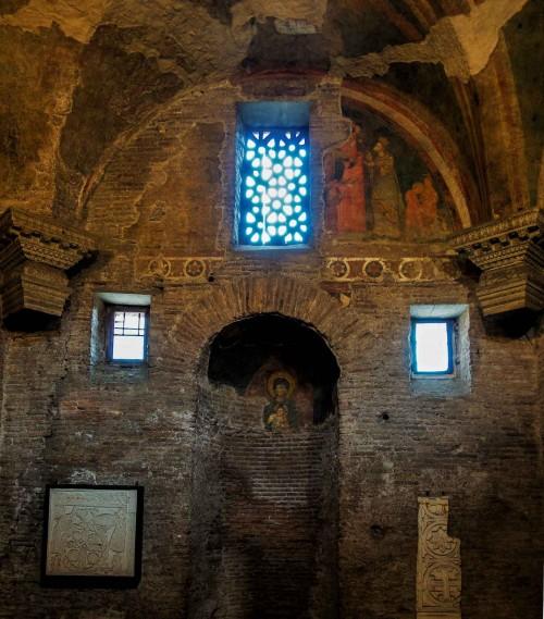 Basilica of Santi Quattro Coronati, Chapel of Santa Barbara, remains of the old church