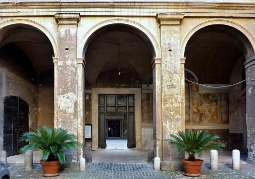 Basilica of Santi Quattro Coronati, portico of the first courtyard