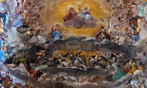 Santi Quattro Coronati, zwieńczenie absydy, Niebiańska Gloria wszystkich świętych, fragment, Giovanni Mannozzi