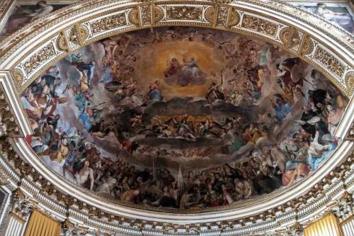 Basilica of Santi Quattro Coronati, top of the apse, The Glory of Heaven, fragment, Giovanni Mannozzi
