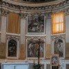 Basilica of Santi Quattro Coronati, apse with paintings depicting the martyrdom of the church patrons