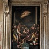 Santi Quattro Coronati, Adoracja pasterzy, obraz i ołtarz z końca XVI w.