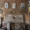 Basilica of Santi Quattro Coronati, remains of medieval decorations of the original church