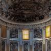 Santi Quattro Coronati, widok absydy z IV w., dekoracje malarskie z XVII w.