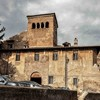 View of the church and monastery complex Santi Quattro Coronati