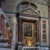 San Rocco, kaplica św. Marcina, obraz ze św. Marcinem oddającym swój płaszcz żebrakowi, Donato da Formello