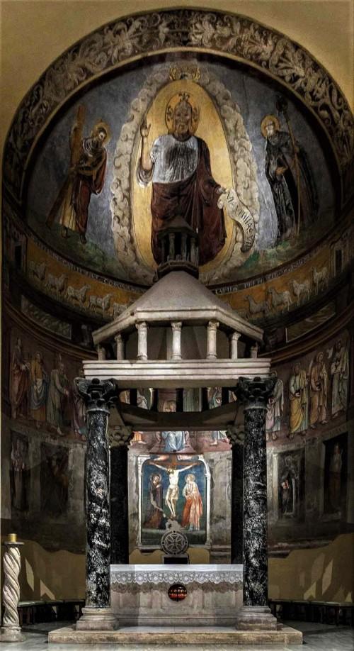 San Saba, cyborium i absyda z freskami