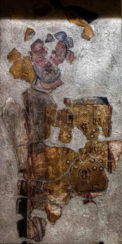 San Saba, pomieszczenia parafialne, jeden z fresków odnalezionych w podziemiu kościoła