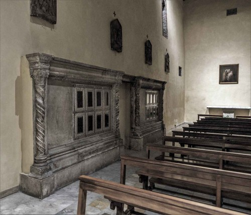 Basilica of San Saba, remains of the schola cantorum