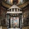 Basilica of San Saba, ciborium and apse with frescoes