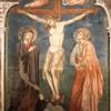 Basilica of San Saba, fresco in the apse, The Crucifixion