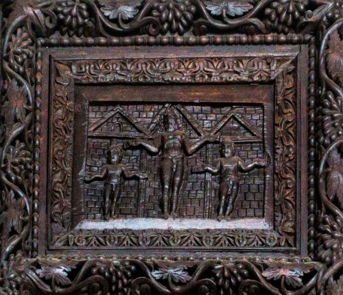 Basilica of Santa Sabina, Cypress door – one of the panels – The Crucifixion