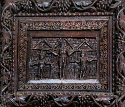 Basilica of Santa Sabina, Cypress door – one of the panels – The Crucifixion