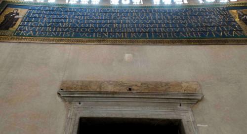 Basilica of Santa Sabina, dedicative mosaics above the enterance door