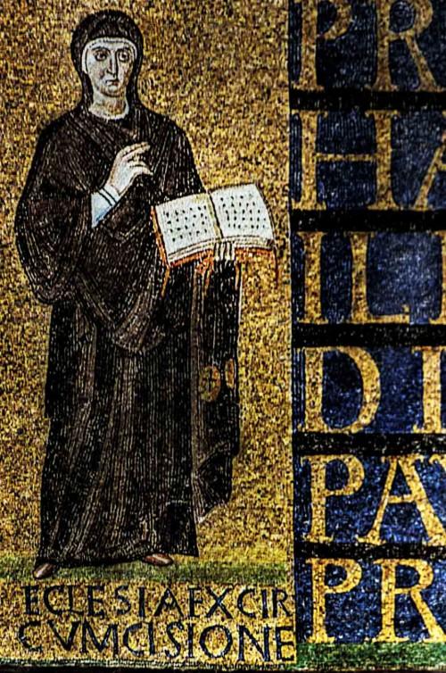 Santa Sabina, early-Christian mosaics above the enterance – Ecclesia ex circumcisione
