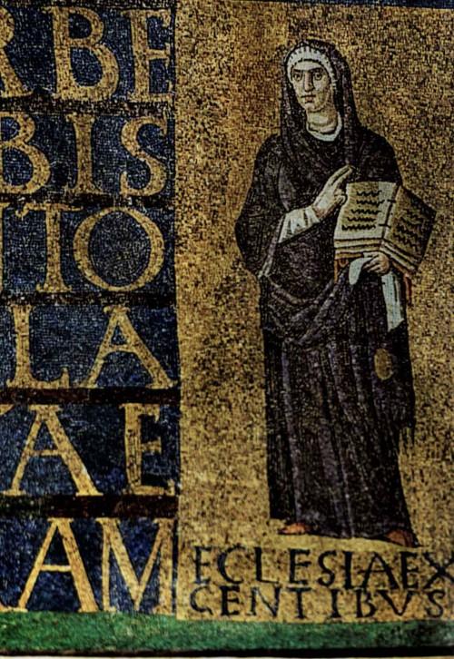 Santa Sabina, mozaiki wczesnochrześcijańskie nad wejściem - Ecclesia ex gentibus