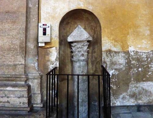 Basilica of Santa Sabina, remains of a column from ancient times