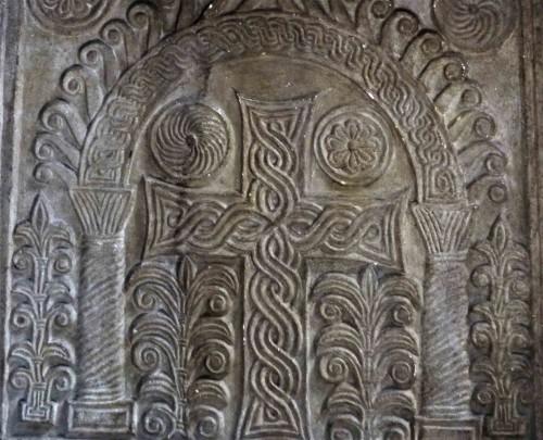 Santa Sabina, romańskie pozostałości (schola cantorum) z IX w.