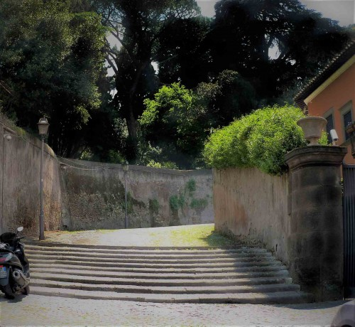 Entry onto Aventine Hill from Forum Boarium Clivo di Rocca Savella