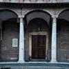 Santa Sabina, side enterance into the church from the Pietro d'Illiria Square