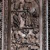 Santa Sabina, drzwi cyprysowe, jedna z kwater - Bóg objawiający się Mojżeszowy na Górze Hereb, Gorejacy krzew i Mojżesz pasący owce