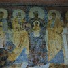Basilica of Santa Sabina, church portico – fresco from the beginning of the VIII century, Madonna Accompanied by the Saints and a Kneeling Pope