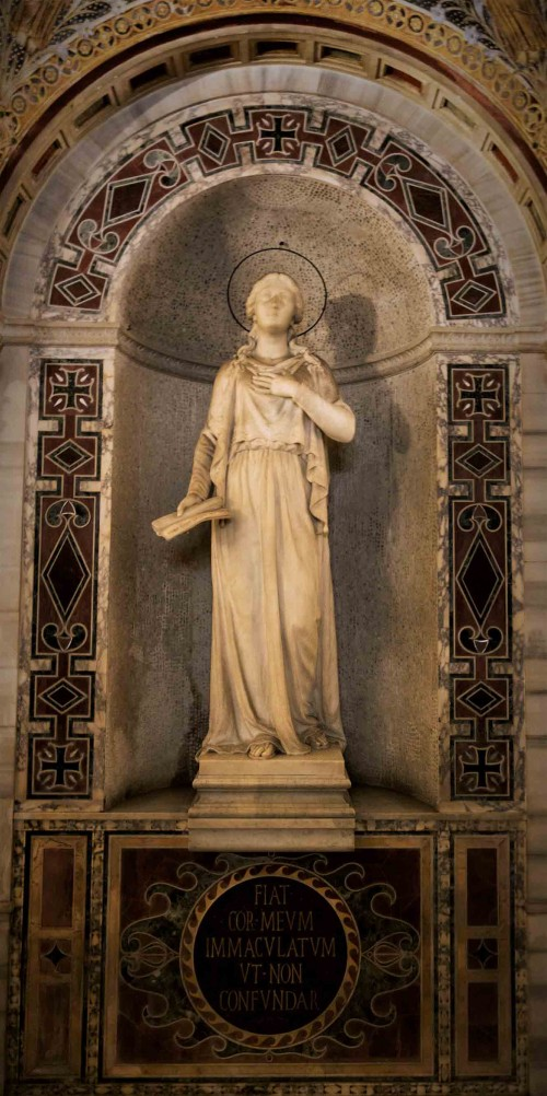 Statue of St. Agnes, catacombs of Church of Santa Cecilia, beginning of XX century