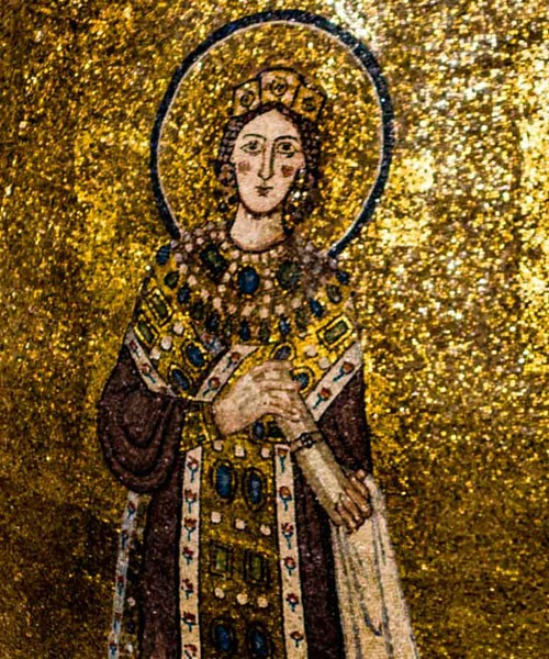 St. Agnes, mosaic in the apse of the Basilica of Sant'Agnese fuori le mura
