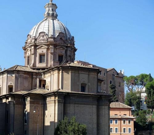Bryła kościoła Santi Luca e Martina - fundacja kardynała Francesco Barberiniego